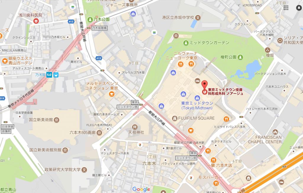 アートメイクノアージュ地図