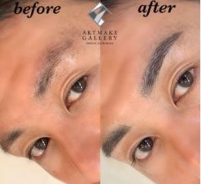 メンズ眉-アートメイクギャラリー症例