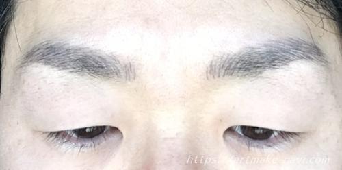 メンズアートメイク経過4日目