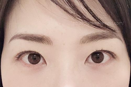 アートメイクギャラリー眉ダウンタイム4日目