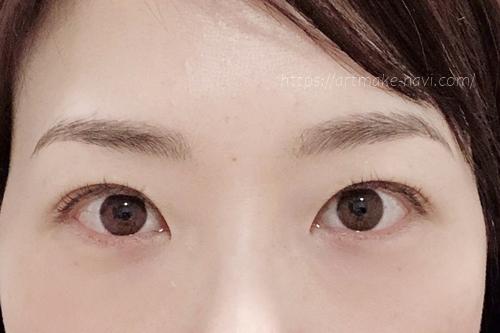 アートメイクギャラリー眉ダウンタイム8日目